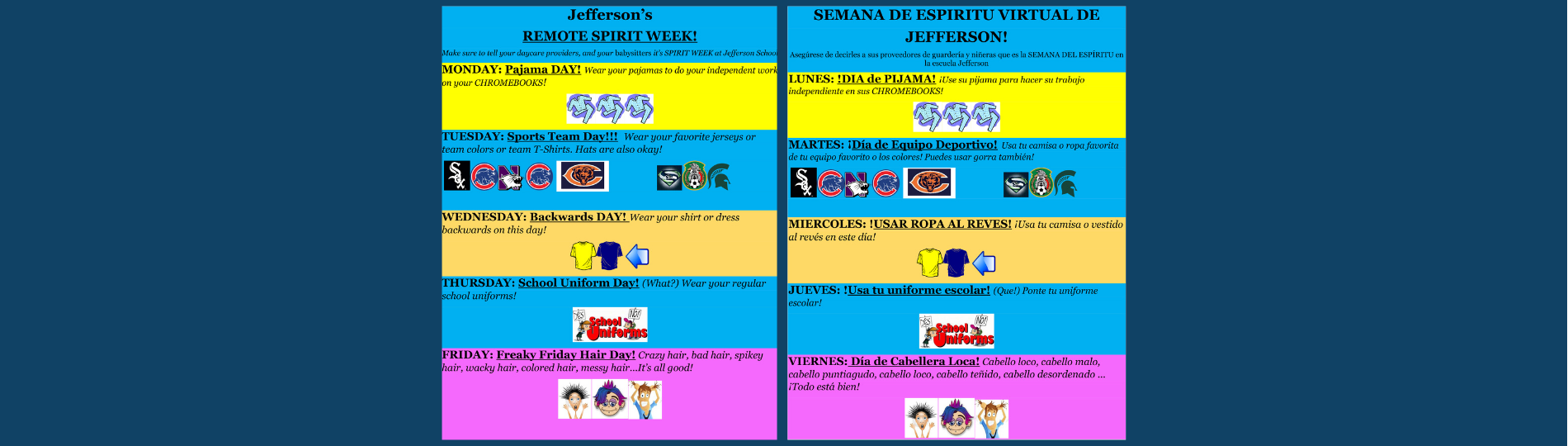 Jefferson's spirit week